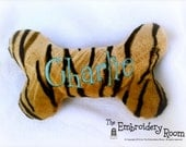 Personalized Tiger Squeaky Bone Toy For SPOILED Dogs