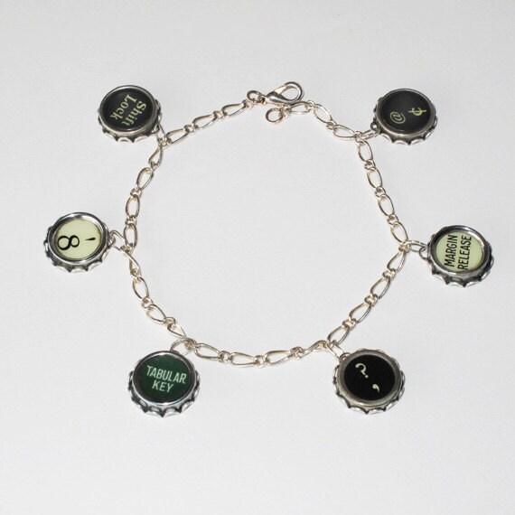 Vintage Typewriter Key Bracelet 38