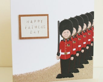 British Guardsmen Greetings Card