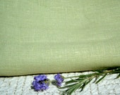 Pure LINEN Celery Green ecofriendly European fabric home decor crafts sewing supplies from MyGypsyCottage on Etsy