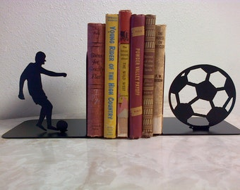 Soccer Metal Art Bookends