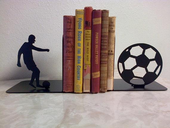 Soccer Metal Art Bookends