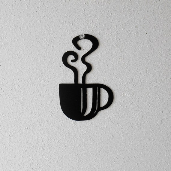 Coffee Cup Wall Art  Metal Wall Decoration