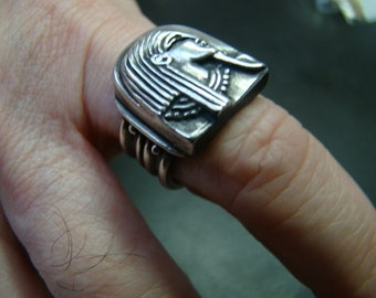 Incredible Sterling Silver Egyptian style ring