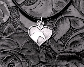 Horse lover Necklace in .999 Fine Silver
