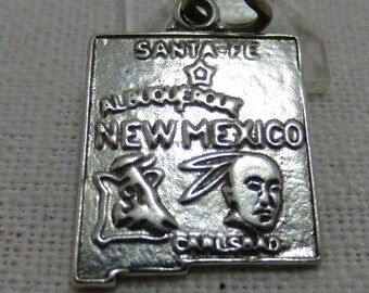 New Mexico State Sterling Silver Charm