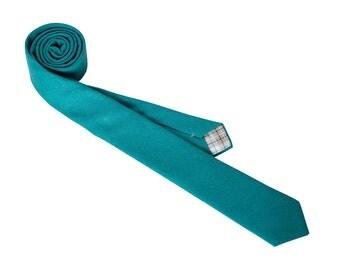 Teal Linen Necktie
