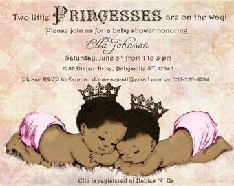 twin baby shower invitation | etsy, Baby shower invitations