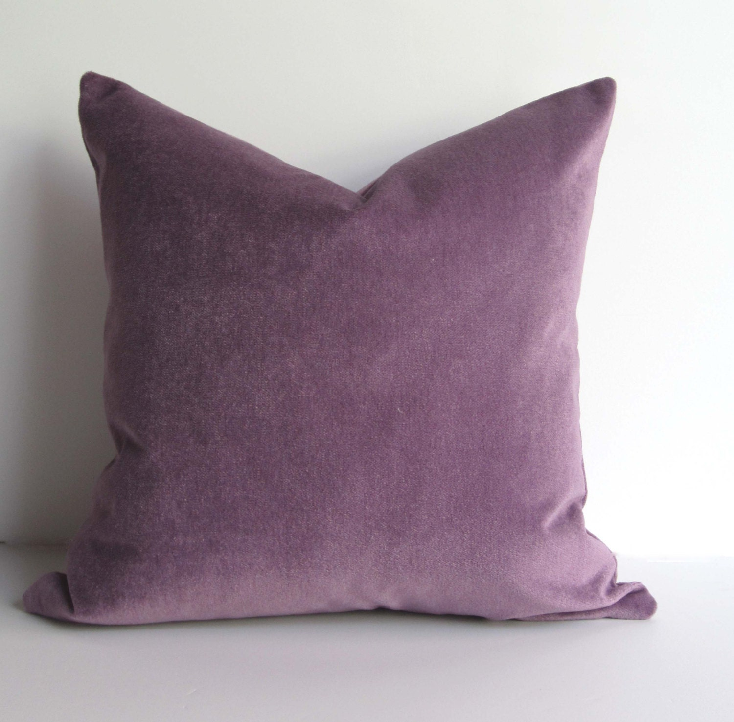Velvet Decorative Pillow Covers : Lilac Velvet Pillow Decorative Pillow Cover 20 inch