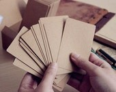 Kraft Paper Blank Card w/ Round Corner (100pcs / 8.9cm x 5.3cm) Greeting Card Invitation Note Card Letterpress Etsy Shop Thank You Tag S189