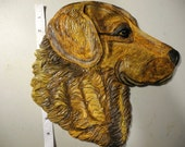 """Original Sculpted clay """"Chesapeake Bay Retriever Dog"""" Wall Hanging, LOVELY, ON SALE!"""