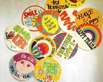 Poster Coasters 1970s Catch Phrases - Abbey Press - 12 Designs