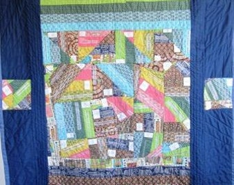 Art Quilt Censorship Banned Books Library Reading Patchwork – 47 x 60 Inches