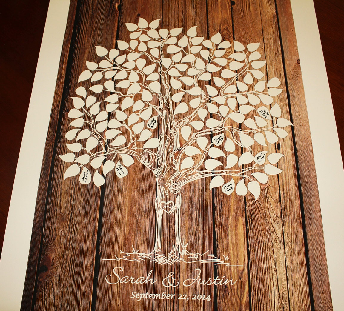 guest book tree wood wedding tree guestbook wedding tree