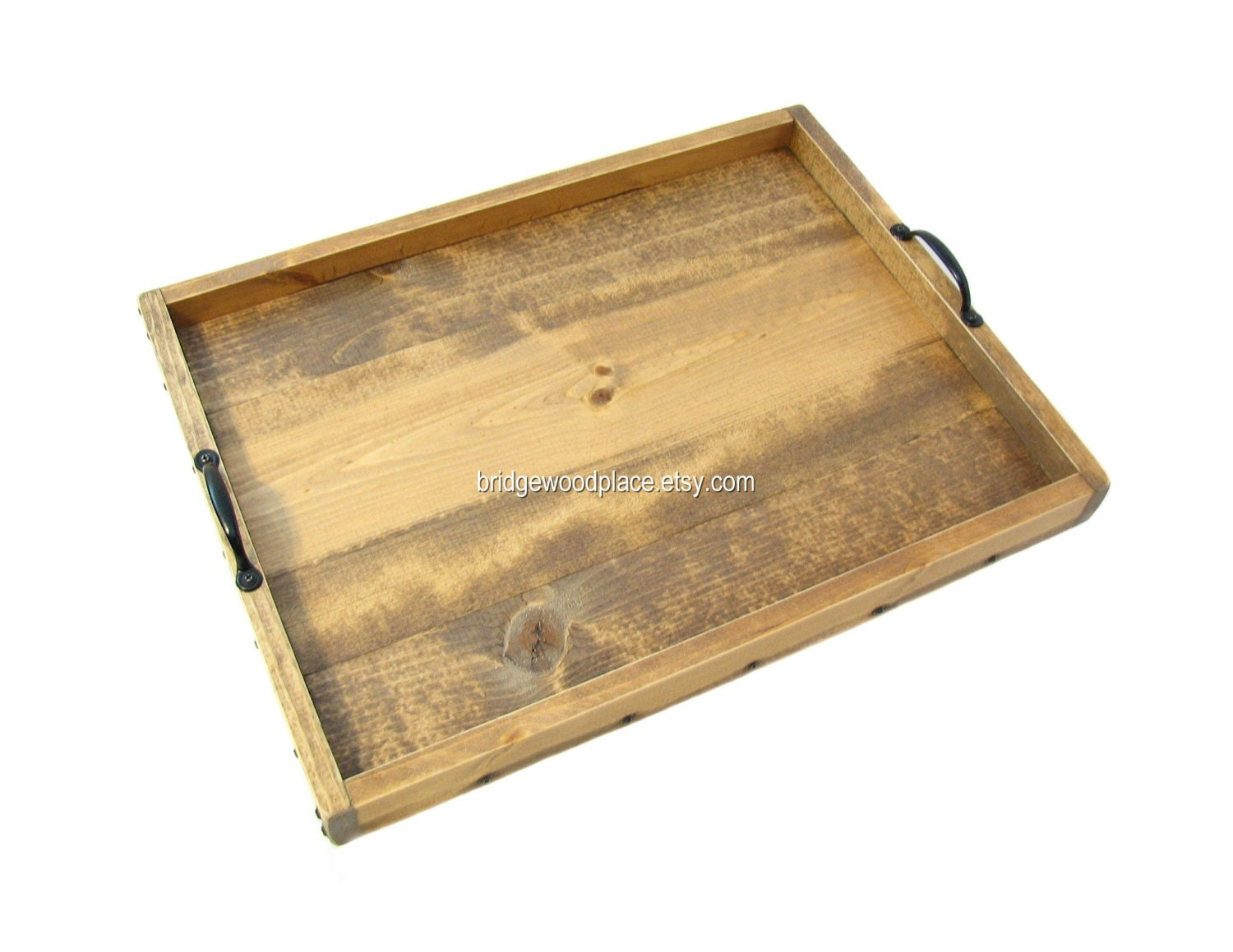 Ottoman tray large wooden coffee table tray by bridgewoodplace Ottoman coffee table trays