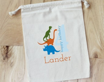 DINOSAUR- Personalized Favor Bags - Set of 10
