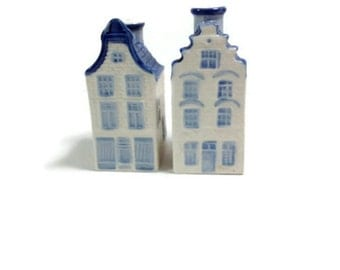 Delft Blue DAIC House Salt & Pepper Shakers