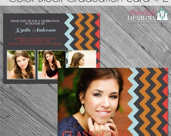 INSTANT DOWNLOAD - Color Block Grad Ann 2 - custom photo templates for photographers on Whcc and ProDigitalPhotos Specs