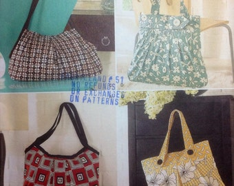Sewing Pattern Four Different Purses Handbags 2009 Elaine Heigl  Uncut
