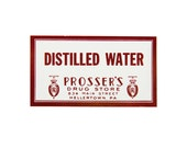 LOT OF 20 -- vintage distilled water pharmacy labels