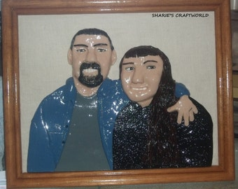 Custom One Of A Kind Clay Portrait. OOAK, Polymer Clay Art, Personal Portrait, Remake Photo, 3D Image, Sculpture Plaque, Handmade, For Her