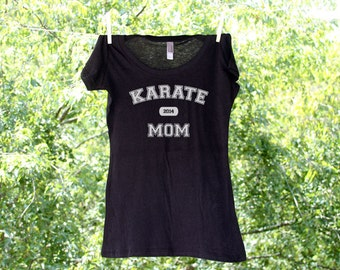 Karate Mom Shirt - Can be personalized with Name & Number on back (see pricing in variations)