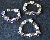 Pansy Bracelet with Swarovski Crystals by Kim Lugar