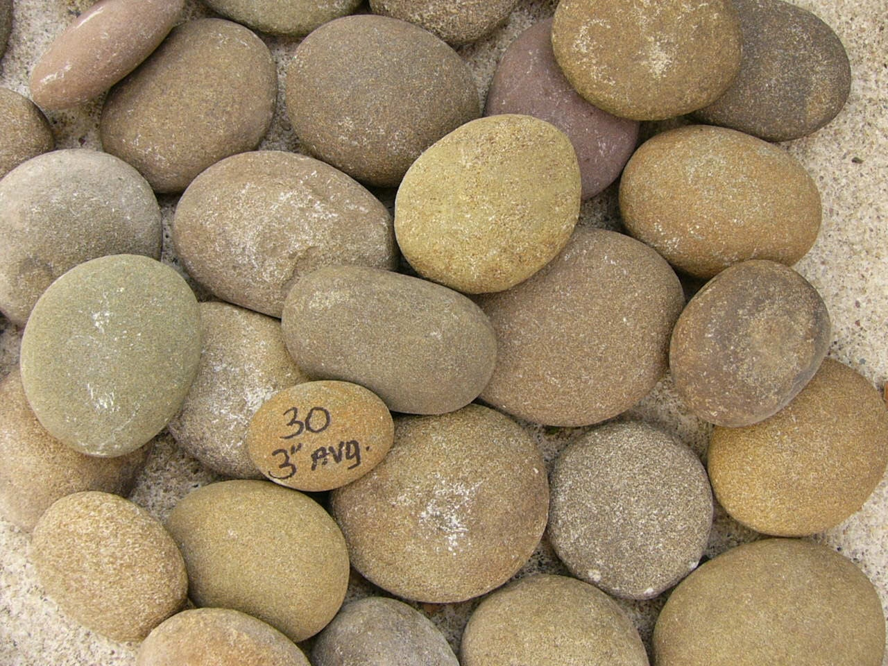 Big chunky river rocks painting garden fun rocks lot 16b for Large river stones for landscaping
