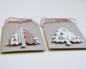 Christmas tags Christmas tree gift tags Patterned tree Christmas tags