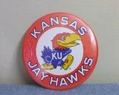 """Kansas JayHawks Giant Collectible 6"""" Button"""