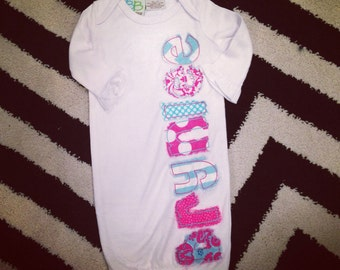 Baby name gown