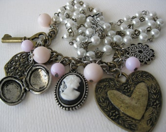 Vintage Victorian Inspired Charm Necklace