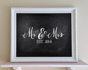 White FRAMED CHALKBOaRD Black Board Kitchen Organizer Wall Modern Decor Decorative Chalkboard Wedding Sign Housewarming Gift - MORE COLORS