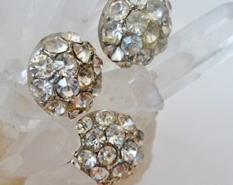 Rhinestone Buttons, Dome Buttons,  Vintage Buttons