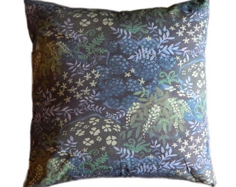 Woodland Fairy Tale 14 x 14 inch Pillow Cover in Blues and Greens