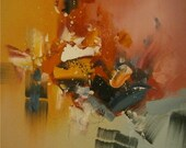 Old Town New Light Abstract Oil Painting
