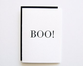 Boo! - Letterpress Printed Halloween Card