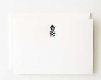 Pineapple - Letterpress Printed Stationery Set