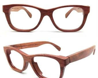 Handmade Walker2012 Red Rosewood Eyeglasses Glasses Sunglasses