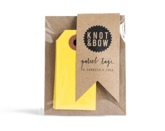 Yellow Parcel Gift Tags / Set of 10