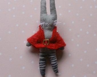 Quincy -Handmade Bunny Brooch
