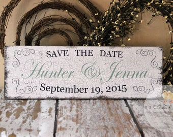 Save The Date Custom Engagement Sign, Engagement Prop