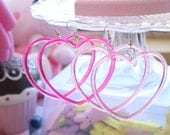Sweet Lolita Heart Hoop Earrings Pick One