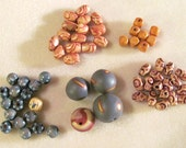 Wood Bead Soup Collection Brown Orange Yellow Gray