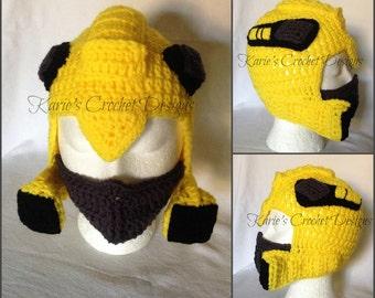 Transformers BumbleBee , Photo Prop, Handmade Crochet Hat Beanie