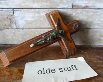 Vintage Crucifix Set Saint Benedict Sick Call Box Cross