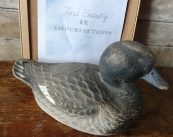 Vintage Decoy Duck Paper Mache General Fibre Co., Ariduk, St. Louis, MO