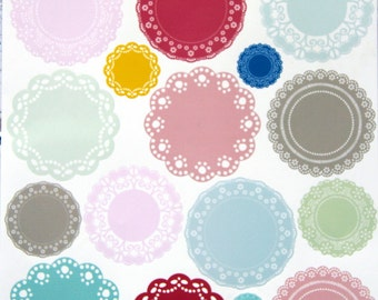 17   lace vinyl stickers  for scrapbooking ,cards