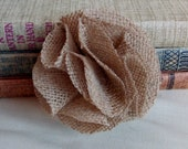 Burlap Flower Carnation Rustic Shabby Chic Wedding Decoration Handmade Flower Bridal Decor