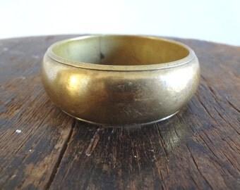1970s Brass Bangle Bracelet #2